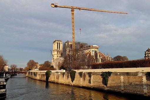 Notre Dame De Paris, Paris, France, Repair, Restoration