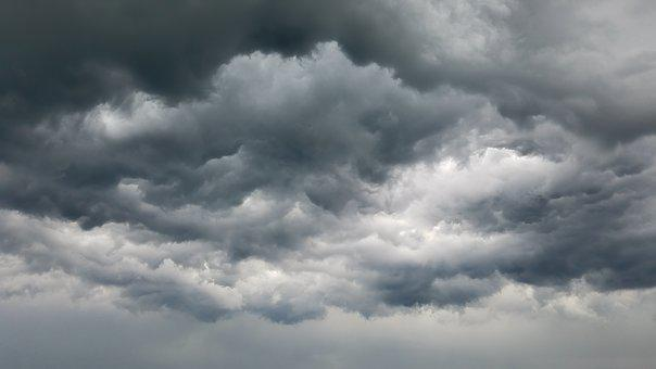 Clouds, Storm, Grey, Sky, Weather, Thunderstorm, Dark