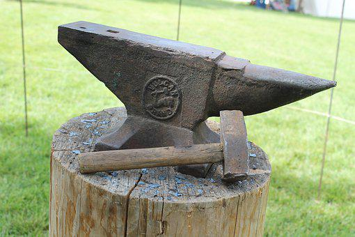 Hammer, Anvil, Blacksmith, Forge, Iron, Metal