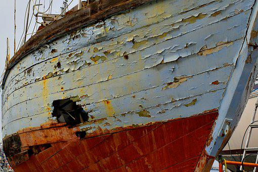 Ship, Hole, Boat, Port, Water, Old, Sail