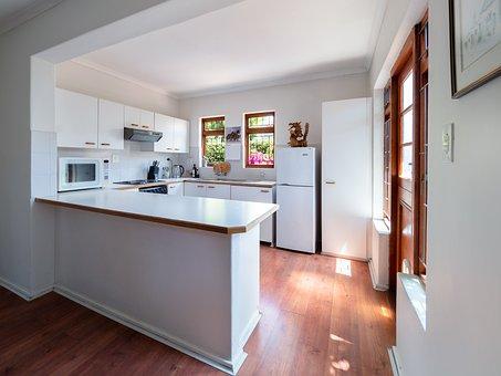 Kitchen, Interior, Home, Room, White, Design, Furniture