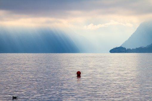 Lake, Fog, Mood, Nature, Light Radiation In The Fog