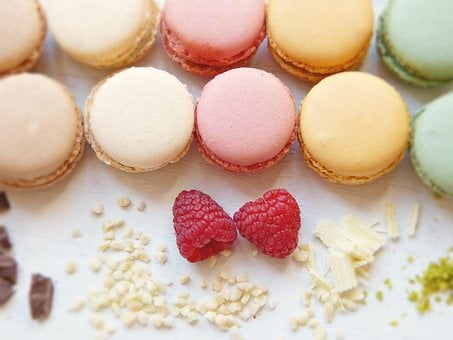 Macaron, Raspberries, Chocolate, Sugar, Colorful, Color