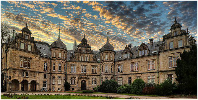 Castle, Courtyard, Old, Mystical, Masonry, Architecture