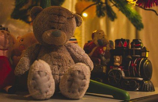 Bear, Toy, Toys, Cute, Plush, Nice, Love, Train