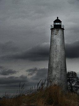 Lighthouse, Nautical, Moody, Maritime, Coast, Ocean
