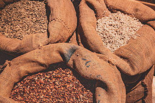 Bags, Canvas, Fabric, Spices, Storage, Open, Raw, Jute