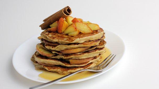 Apple Pancakes, Pancakes, Sweets, Dessert, Eat, Sweet
