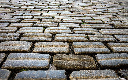 Patch, Stones, Paving Stones, Road, Old Road, Away