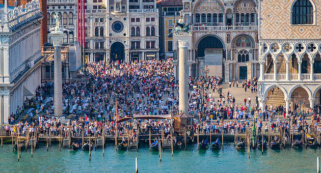 Crowds, Piazza, Tourism, Italy, Venice, Travel