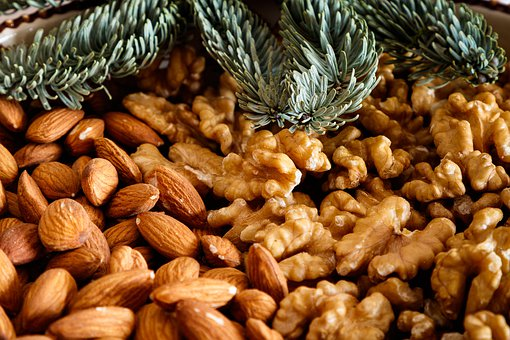 Walnuts, Almonds, Nuts, Ripe, Food, Fruit, Nutrition