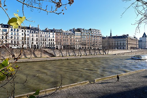 Urban Landscape, Paris, France, River, The Seine, Fall