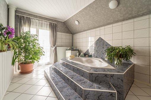 Bathroom, Bath, House, Interior, Room, Brown Bathroom