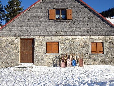 Allgäu, Snow, Winter, January, Wintry, Alpine