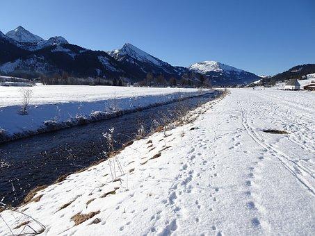 Allgäu, Snow, Winter, January, Wintry