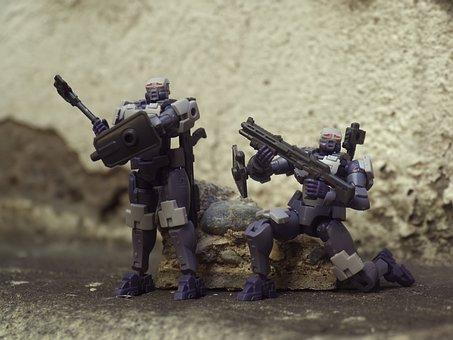 Hexa Gear, Small, Plastic, Model, Kit, Soldier, Weapon
