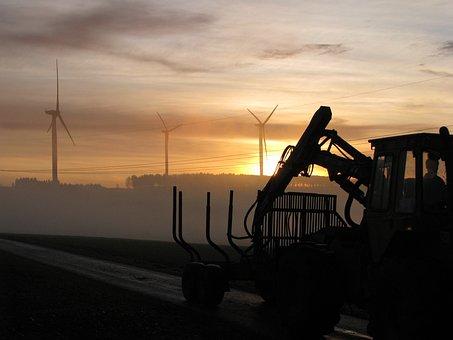 Sunrise, Starting Work, Agriculture