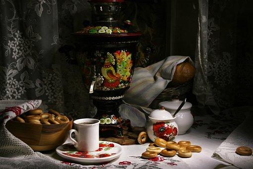 Still Life, Samovar, Tea, Tea Party, Traditions