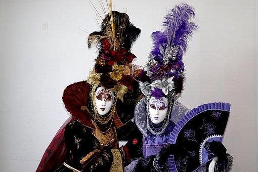 Mask, Venice, Carnival, Costume, Facemask, Panel