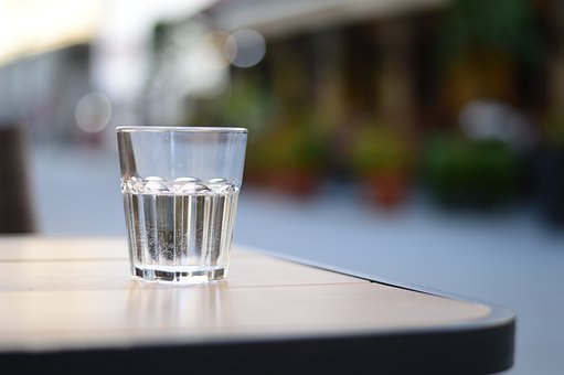 Glass, Water, Outdoors, City, Drink, Cafe, Table