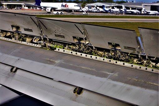 Airplane, Wing, Air Brakes, Spoiler, Lift Spoiler