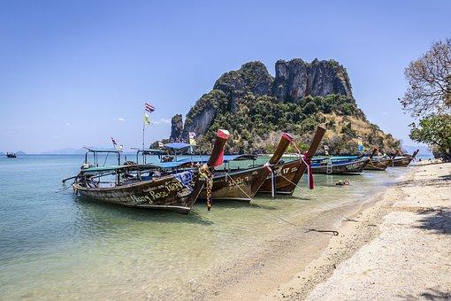 Nautical Vessel, Sea, Beach, Asia, Thailand