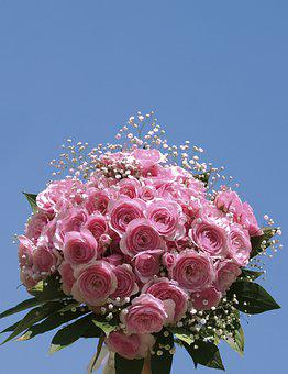 Bunch Of Flowers, Wedding, Beautiful, Rose, Love, Scent