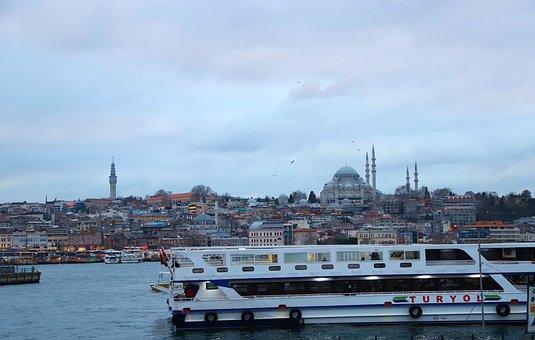 Beach, Istanbul, Boat, Ship, V, Süleymaniye, Estuary