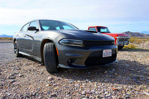 Nevada, Desert, Auto, Car, Muscle Car, Dodge, Charger
