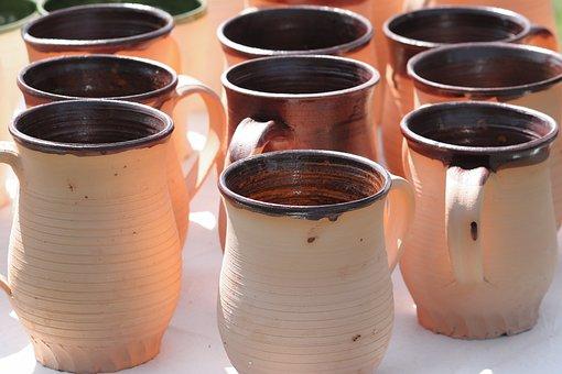 Ceramic Mug, Ceramic, Handmade, Craft, Cup, Vases