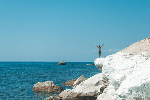 Cyprus, Freedom, Limestone, Lime Rock, Beach, Extreme