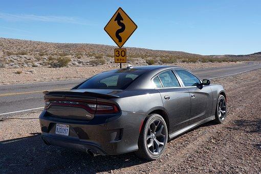 Nevada, Desert, Auto, Car, Muscle Car