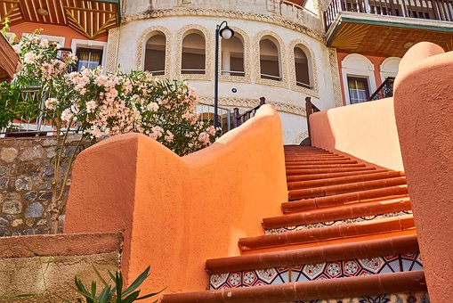 Stairs, Architecture, Building, Background, Detail