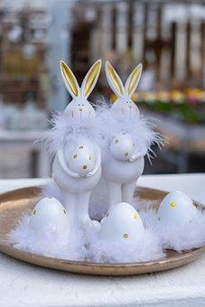 Easter Bunny, Easter, Rabbit, Bunny Couple, Figures