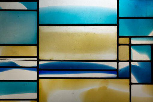 Glass Window, Church, St, Johann Baptist, New Ulm