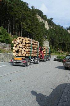 Transport, Trees, Logistics, Truck, Traffic, Load