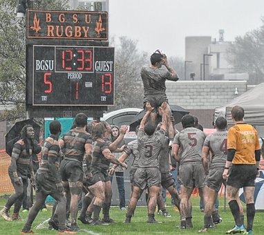 Rugby, Sport, Mud, College, Players