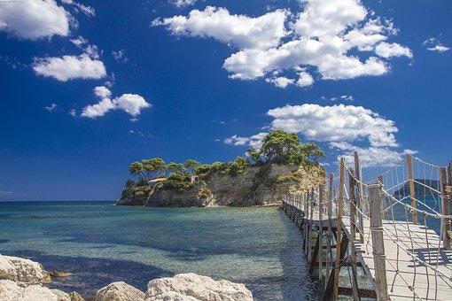 Zakynthos, Greece, Sea, Beach, Bikini, Summer, Island