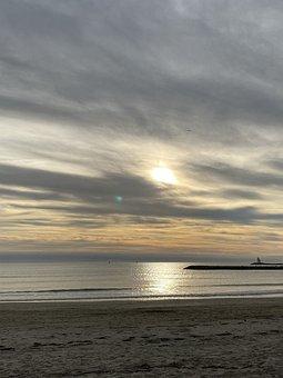 Sunset, Sea, Evening, Romantic, Twilight