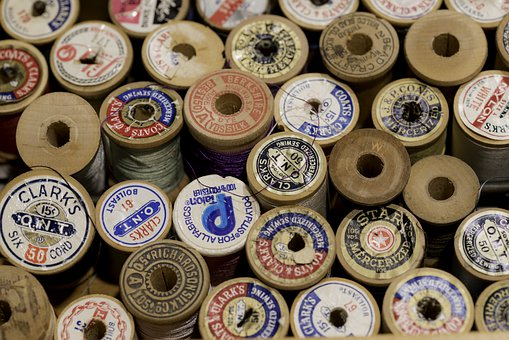 Thread, Spool, Sewing, Sew, Material