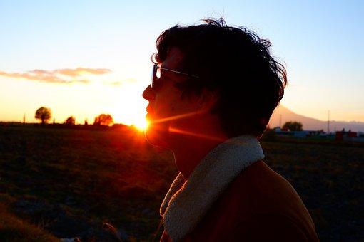 Men, Sunset, People, Silhouette, Travel, Person, Sun