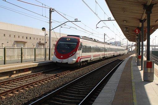 Cadiz, Railway, Trains, Nearby, Renfe, Cut, Station Cut