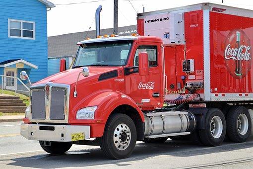 Truck, Transport, Coca-cola, Canada, Auto, Delivery