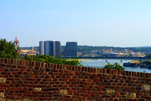 City, Wall, River, Sky, Urban, Architecture, Building