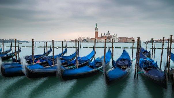 Gondolas, Venezia, Venice, San Giorgio