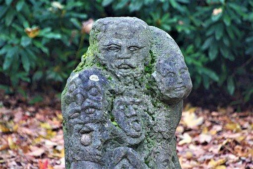 Mount Rushmore, Sculpture, Patina, Moss, Wild Guys
