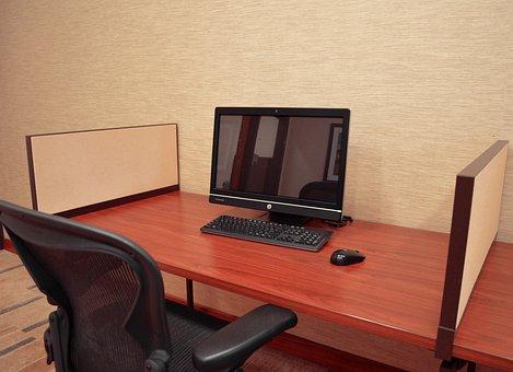 Workplace, Desk, Office