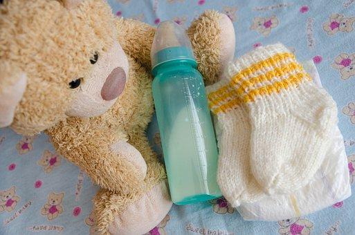 Bear, Ivy, Cute, Plush, Nice, Child's, Fabric, Children