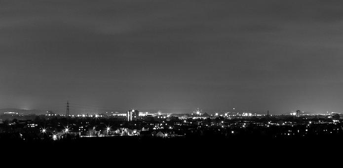 Bedford At Night, Bedford, Urban, Night Time