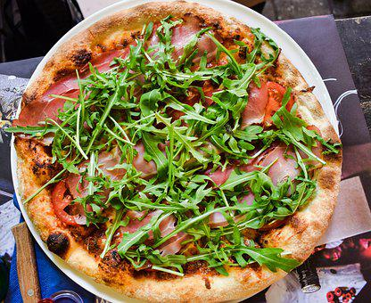 Arugula, Background, Cheese, Cooked, Crust, Delicious